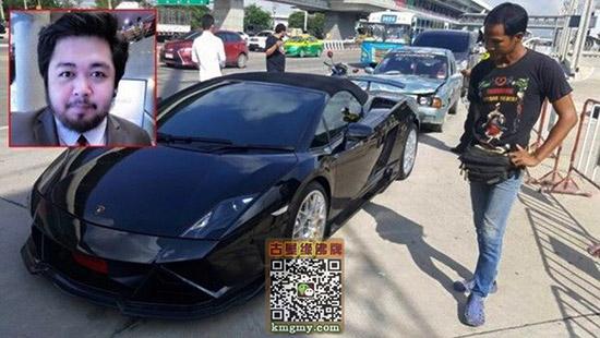 泰国兰博基尼被撞,车主拒赔内容图片