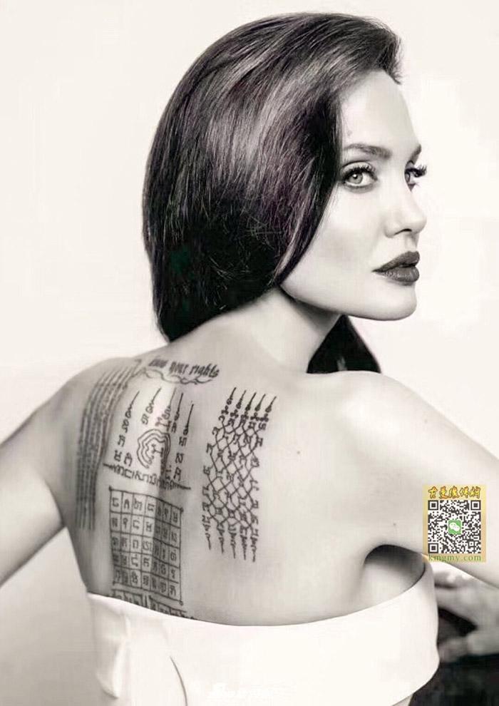 好莱坞巨星-安吉利亚朱莉与泰国刺符
