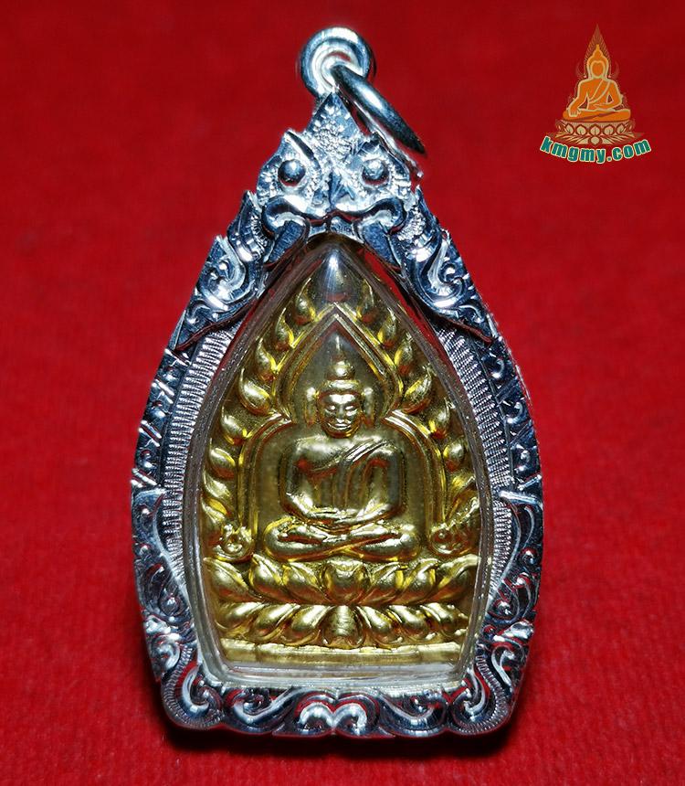 龙婆卡贤2535年制作加持这一期座山佛,品相精美收藏级珍品, 手工纯银防水外壳